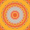 Sunny yellow orange red watercolor natural textile texture circle pattern