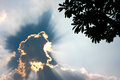 Sunray beautiful cloudscape with in sky Stock Image