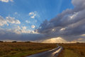 Sunrays and clouds south africa Royalty Free Stock Images