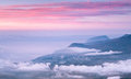 Sunrise above sea in crimea mountains Royalty Free Stock Photo