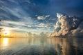 Sunrise above Sulu sea in Borneo