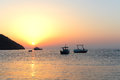 Sunrise in adrasan turkey morning at the beach turkish village Royalty Free Stock Photography