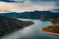 Sunrise along the Arda river, Eastern Rhodopes, Bulgaria Royalty Free Stock Photo