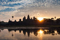Sunrise at Angkor Wat Royalty Free Stock Photo