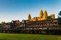 Sunrise of Angkor Wat Royalty Free Stock Photo