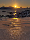 Sunrise in the arctic landscape Stock Photography