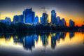 Sunrise on Austin Texas Royalty Free Stock Photo