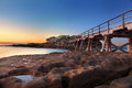 Sunrise at bare island australia la perouse botany bay iso sec Royalty Free Stock Image