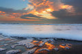 Sunrise at the beach burgas bulgaria Royalty Free Stock Image