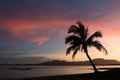 Sunrise at a beach, Fiji Royalty Free Stock Photo