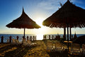 Sunrise and beach at the luxury hotel sharm el sheikh egypt Royalty Free Stock Photo