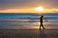 Sunrise on beach Waipu Cove Royalty Free Stock Photo