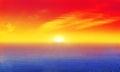 Sunrise Over Mist Ocean