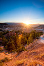 Sunrise in bryce canyon Stock Images