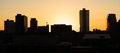 Sunrise Buildings Downtown City Skyline Knoxville Tennessee Unit Royalty Free Stock Photo