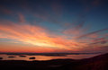 Sunrise from Cadillac Mountain Mount Desert Island Royalty Free Stock Photo