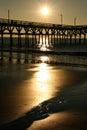 Sunrise Cherry Grove Pier Myrtle Beach Portrait Royalty Free Stock Photo