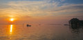 Sunrise on the Chesapeake Bay Stock Photos