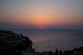 Sunrise on the Cretan coast. Royalty Free Stock Photo
