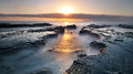 Sunrise at Currumbin Rock Royalty Free Stock Photo