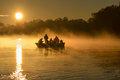 Sunrise on the Danube Royalty Free Stock Photo