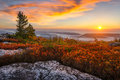 Sunrise, Dolly Sods, West Virginia Royalty Free Stock Photo