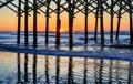 Sunrise Folly Beach Charleston South Carolina Royalty Free Stock Photo
