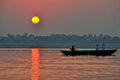 Sunrise on the Ganges, Varanasi Stock Photos
