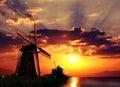 Sunrise on the Giant of Netherlands Royalty Free Stock Photo