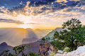 Sunrise at the Grand Canyon in Arizona, USA Royalty Free Stock Photo