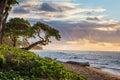 Sunrise in kauai hawaii a beautiful Royalty Free Stock Images