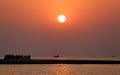 Sunrise at kuakata bangladesh on seashore Royalty Free Stock Images