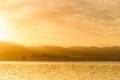 Sunrise on a lake Royalty Free Stock Image