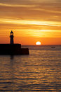 Sunrise Lighthouse Royalty Free Stock Photo