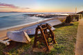 Sunrise at long reef australia the view south from on sydney s northern beaches Stock Image