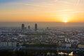 Sunrise at Lyon city, France, Europe Royalty Free Stock Photo