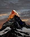 Sunrise on the Matterhorn Royalty Free Stock Photo