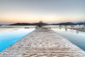 Sunrise at Mirabello Bay on Crete Stock Photography