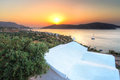 Sunrise at Mirabello Bay on Crete Royalty Free Stock Photo