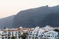 Before sunrise mountain view on tenerife hotel resorts canary islands Stock Photography