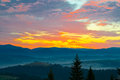 Sunrise the in the mountains Royalty Free Stock Image