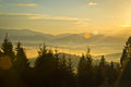 Sunrise the in the mountains Royalty Free Stock Images