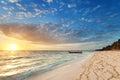 Sunrise on nanuya island Royalty Free Stock Photos
