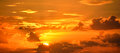 Sunrise in orange skies, Florida Royalty Free Stock Photo