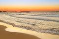 Sunrise over aegean sea crete greece Stock Photography