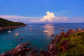 Sunrise over andaman sea similan s island thailand Stock Photos