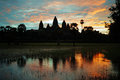 Sunrise over angkor wat Royalty Free Stock Photo