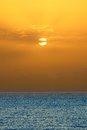 Sunrise over atlantic ocean fuerteventura Royalty Free Stock Images