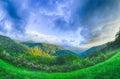 Sunrise over blue ridge mountains scenic overlook Royalty Free Stock Image