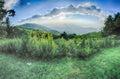 Sunrise over blue ridge mountains scenic overlook Royalty Free Stock Photography